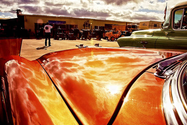 Car Art Print featuring the photograph Reflections Of Fire by Lynn Andrews