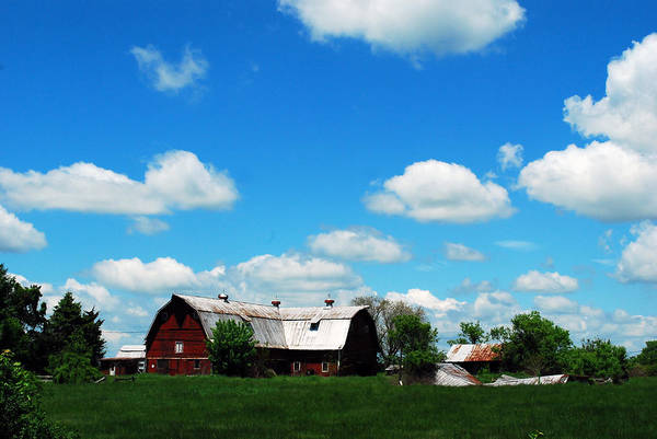 Barn Art Print featuring the photograph Retired Barn by Lori Tambakis