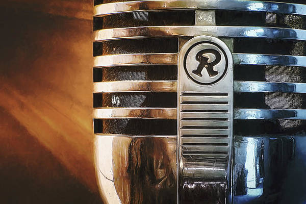 Mic Print featuring the photograph Retro Microphone by Scott Norris