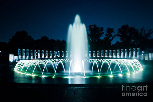 Fountain Art Print featuring the photograph Reverie by Irene Abdou