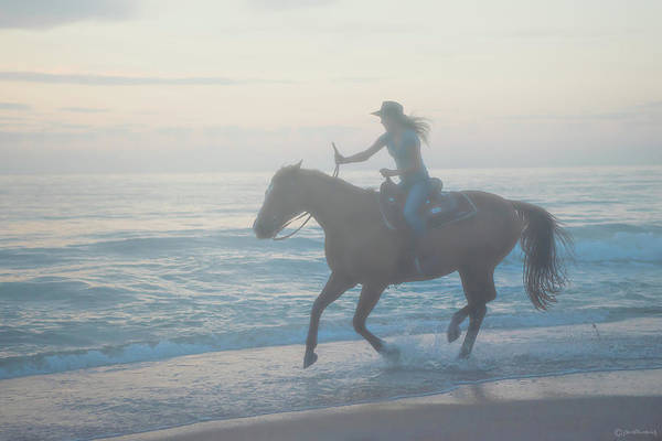 Florida. Rider Art Print featuring the photograph Riding Free by Janal Koenig