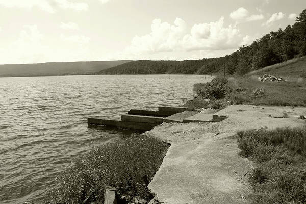Lake Art Print featuring the photograph Right To The Edge by Nina Fosdick
