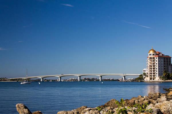 Marina Jacks Art Print featuring the photograph Ringling Bridge, Sarasota, Fl by Michael Tesar