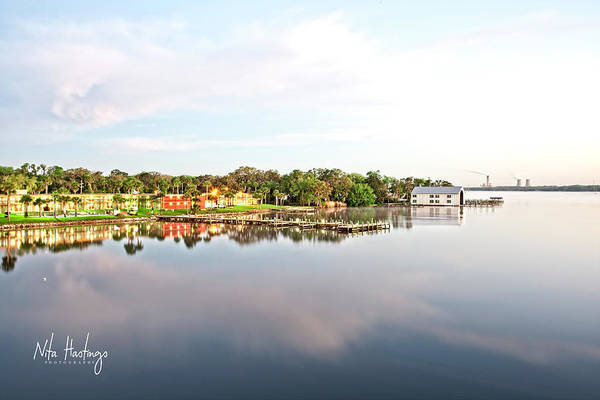 St. Johns River Art Print featuring the photograph River Bliss by Nita Hastings