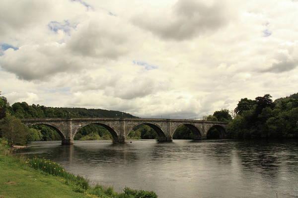River Tay Art Print featuring the photograph River Tay At Dunkeld by Martina Fagan