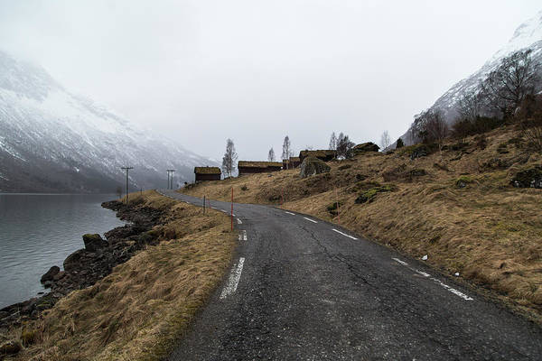 Road Trip Art Print featuring the photograph Roads Of Norway by Aldona Pivoriene