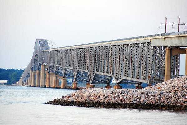 Bridge Art Print featuring the photograph Robert O. Norris Bridge by Erik Berglund