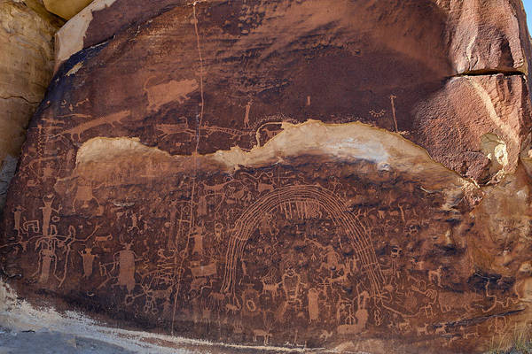 Petroglyph Panel Art Print featuring the photograph Rochester Creek Panel by Kathleen Bishop