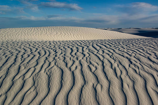 White Sands Art Print featuring the photograph Rolling Dunes by Bob Bailey