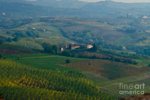Italy Art Print featuring the photograph Rolling Hills Of The Piemonte Region by Carl Jackson