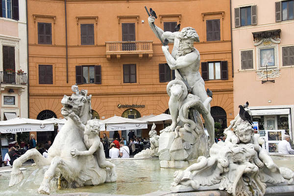Rome Art Print featuring the photograph Roman Fountain by Charles Ridgway