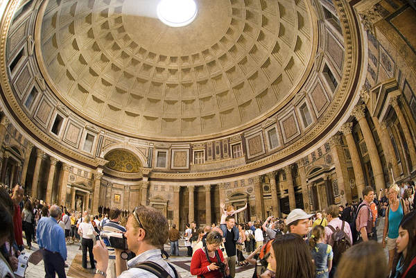 Panteon Art Print featuring the photograph Roman Pantheon by Charles Ridgway