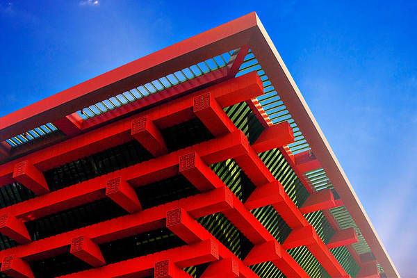 China Pavilion Print featuring the photograph Roof Corner - Expo China Pavilion Shanghai by Christine Till