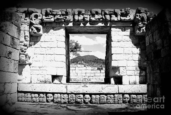 Travel Art Print featuring the photograph Room With A View Black And White by Trude Janssen