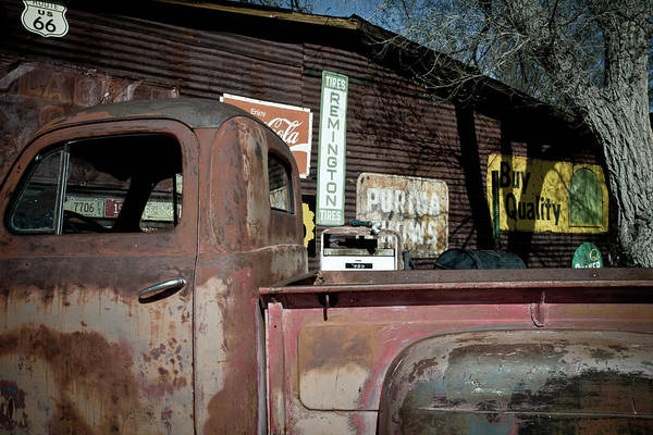 Notice Art Print featuring the photograph Route 66-60 by Avril Christophe