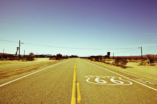 Notice Art Print featuring the photograph Route 66-73 by Avril Christophe