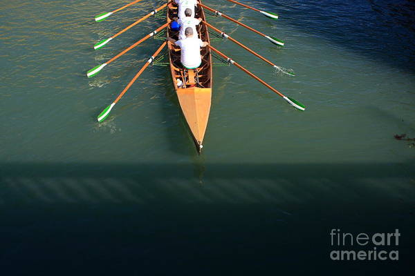 Venice Art Print featuring the photograph Rowers In Venice by Michael Henderson
