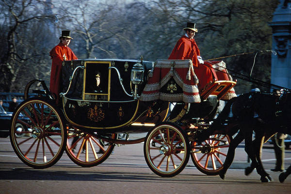 Coach Art Print featuring the photograph Royal Carriage In London by Carl Purcell
