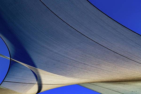 Abstract Art Print featuring the photograph Sailcloth Abstract Times Two by Bob Orsillo
