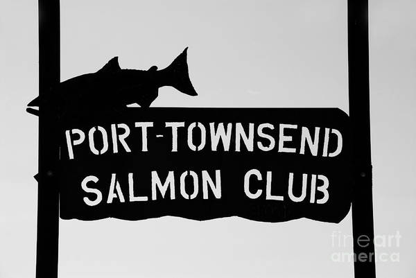 Port Townsend Salmon Club Art Print featuring the photograph Salmon Club by David Lee Thompson