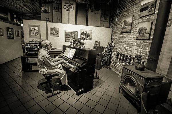 Saluda Art Print featuring the photograph Saluda Piano Man by Amazing Face Photography By Sharon Lee