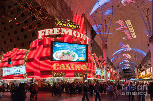 Las Vegas Art Print featuring the photograph Sam Boyds Fremont Casino by Andy Smy
