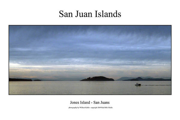 Harbor Canvas Prints Art Print featuring the photograph San Juan Islands by William Jones