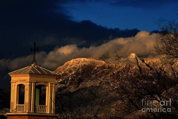 Photography Art Print featuring the photograph Sandia Steeple by Matthew Griffin