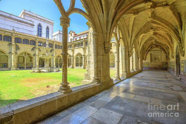Coimbra Art Print featuring the photograph Santa Cruz Monastery by Benny Marty