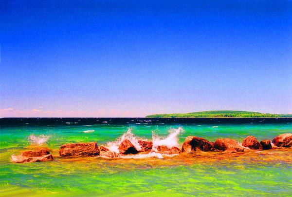 Landscape Art Print featuring the photograph Sat Splash by Lyle Crump