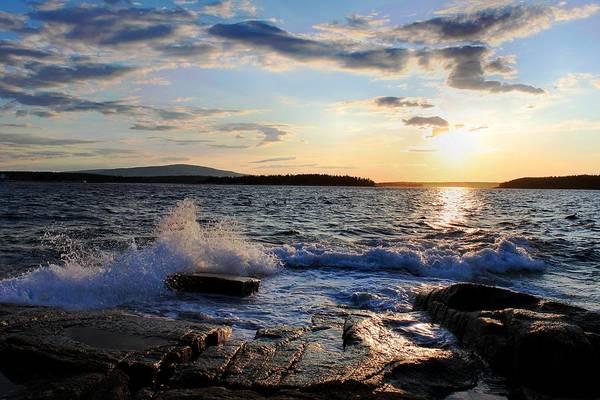 Sunset Art Print featuring the photograph Schoodic Sunset by Scott Bricker