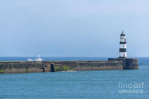 Seaham Lighthouse Art Print featuring the photograph Seaham Lighthouse by Carol Herbert