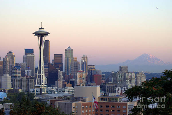 Mountain Art Print featuring the photograph Seattle by Larry Keahey