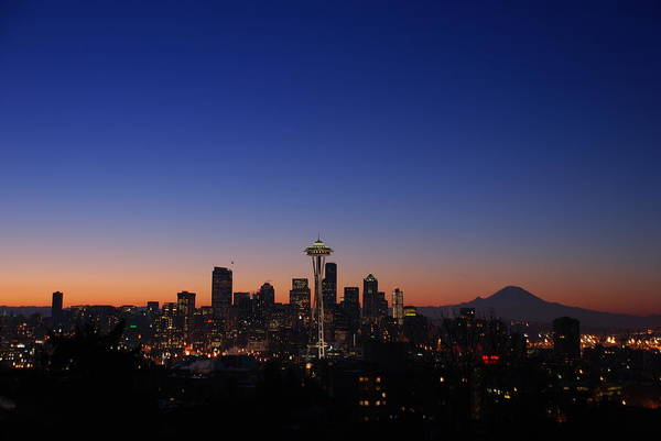 Seattle Art Print featuring the photograph Seattle Skyline by Alasdair Turner