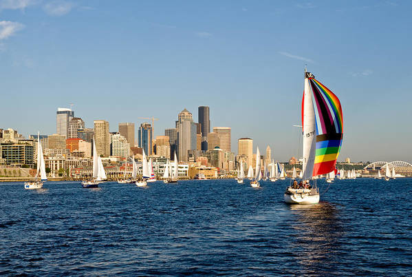 Seattle Art Print featuring the photograph Seattle Tack by Tom Dowd