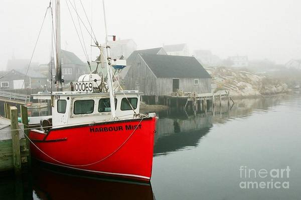 Boats Art Print featuring the photograph Serenity In Red by Frank Townsley