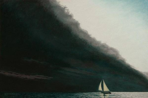 Sailing Art Print featuring the painting Shadow Work by Allan OMarra