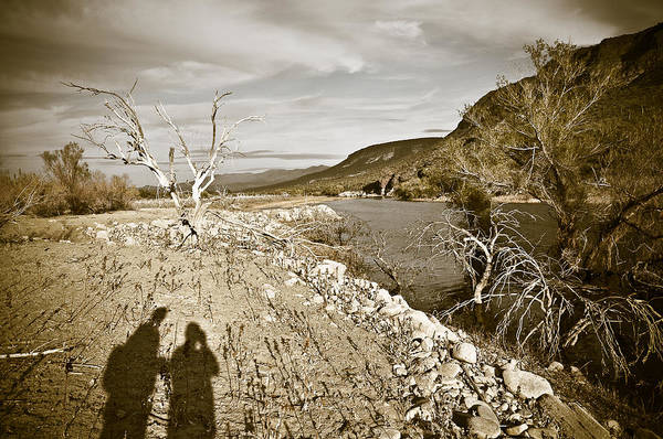 Desert Art Print featuring the photograph Shadows Lurking by Keith Sanders