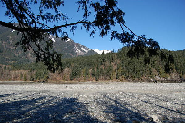 River Art Print featuring the photograph Shadows On The Coquihalla River by J D Banks