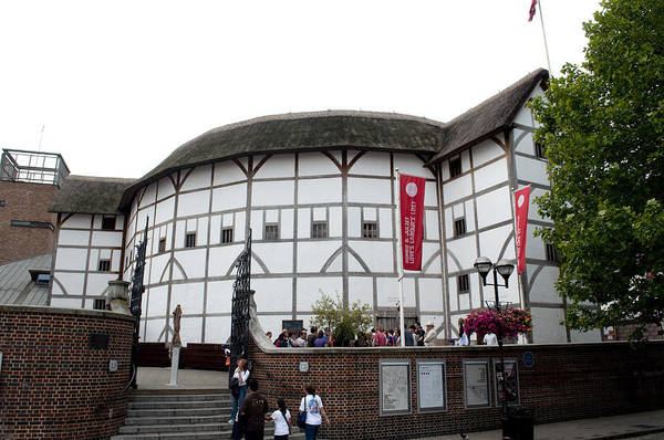 Shakespeare Art Print featuring the photograph Shakespeare's Globe Theater by Charles Ridgway