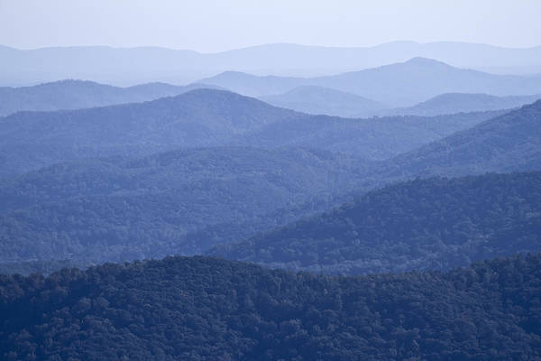 Shenandoah Print featuring the photograph Shenandoah Mountains by Pierre Leclerc Photography