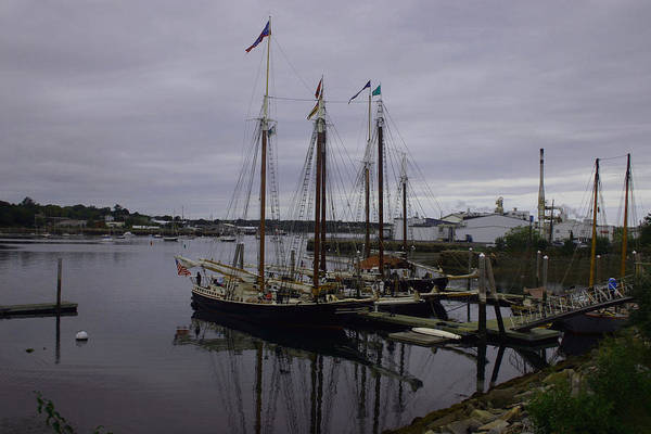 Landscape Art Print featuring the photograph Ship At Dock. by Dennis Curry