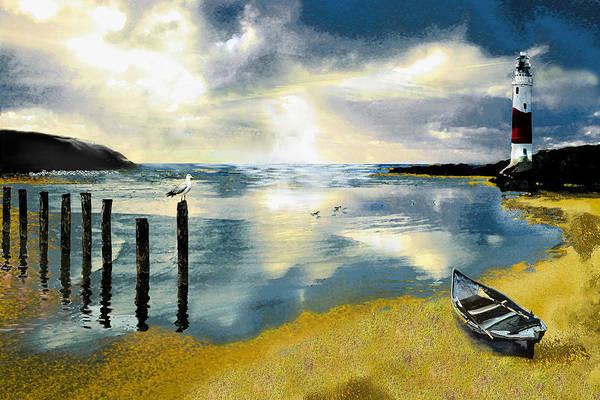 Ocean Art Print featuring the painting Silent Ocean by Anne Weirich