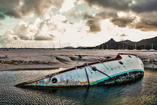 Abandoned Art Print featuring the photograph Simpson's Bay Shipwreck by Karl Anderson