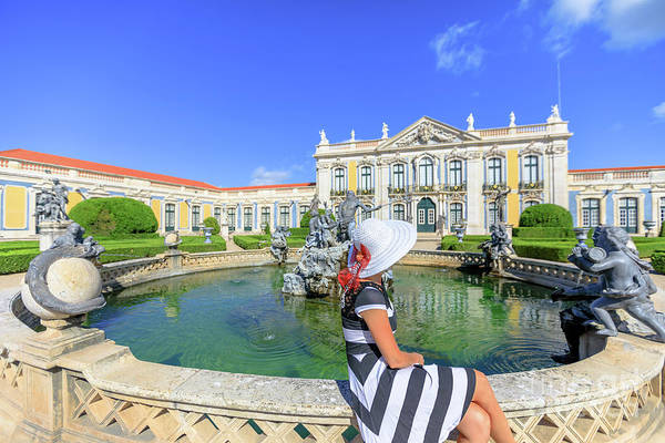 Sintra Art Print featuring the photograph Sintra Travel Woman by Benny Marty