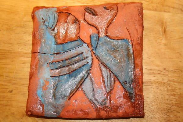 Jesus Art Print featuring the ceramic art Sir - Tile by Gloria Ssali