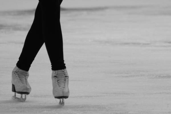 Ice Skate Print featuring the photograph Skating by Lauri Novak