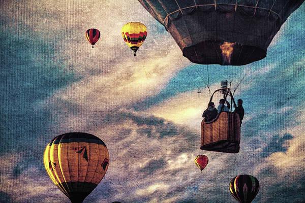 Hot Air Balloon Art Print featuring the photograph Sky Caravan Hot Air Balloons by Bob Orsillo