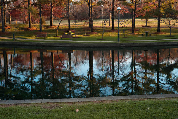 Fall Art Print featuring the photograph Small Urban Park by Steve Wile