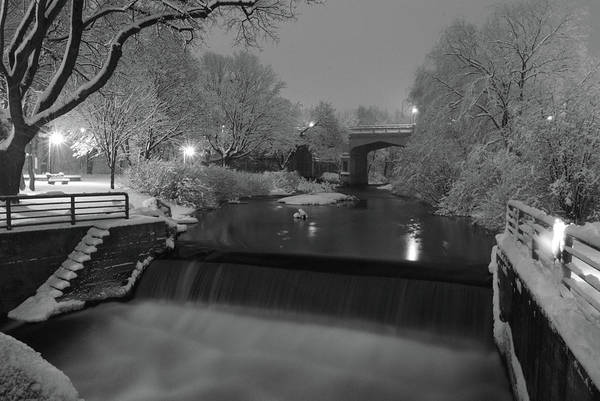 Petoskey Michigan Art Print featuring the photograph Snowy Bear River by Russell Todd